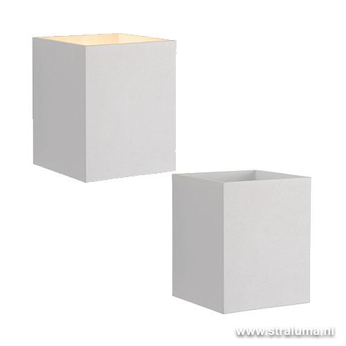 Zeer Strakke wandlamp-muurl. wit hal-keuken | Straluma TS91