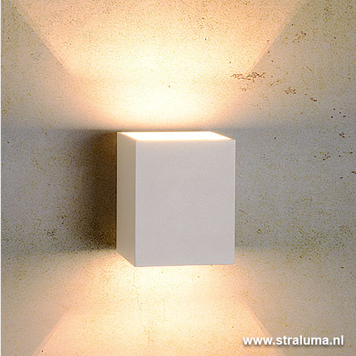 Strakke wandlamp muurlamp wit hal keuken straluma for Design wandlamp