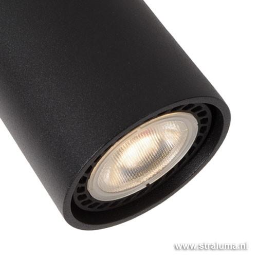 badkamer led spot zwart verstelbaar straluma
