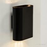 **Design wandlamp zwart ovaal