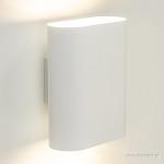 **Ovaal wandlamp wit 2xe14
