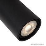 2-lichts spotbalk zwart incl. led gu10