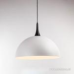 **Grote koepellamp-hanglamp wit/zwart
