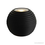 Zwarte LED wandlamp rond IP54