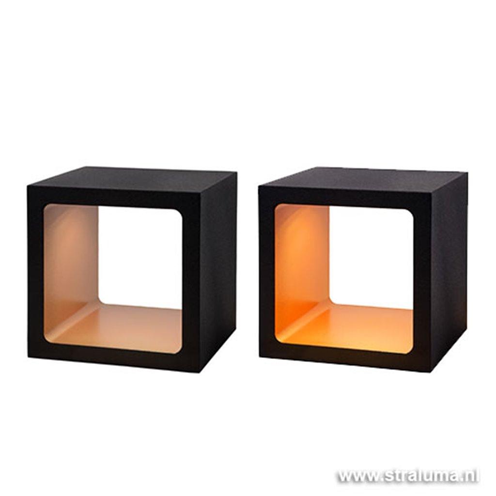 Zwarte tafellamp Xio Led met goud