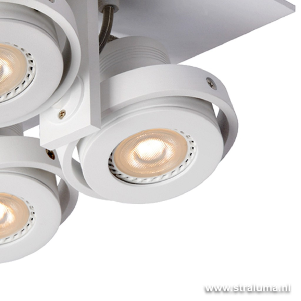 Landa opbouwspot LED 4-lichts wit