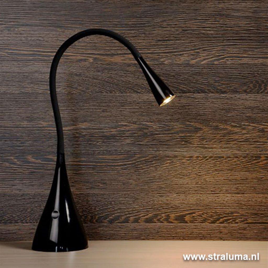 Speelse zwarte bureaulamp Zozy LED