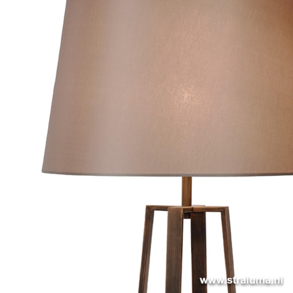 Luxe Staande lamp bruin met kap