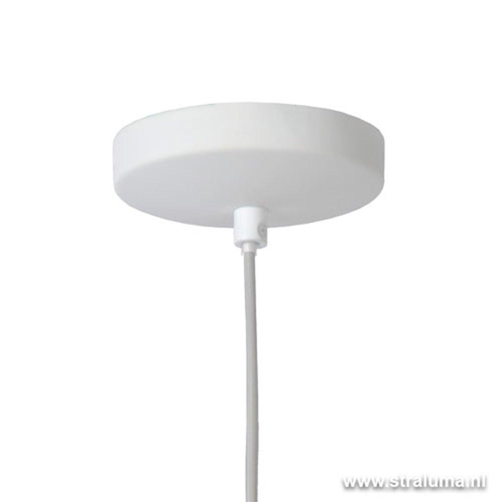Bloemen hanglamp wit kinder-tienerkamer