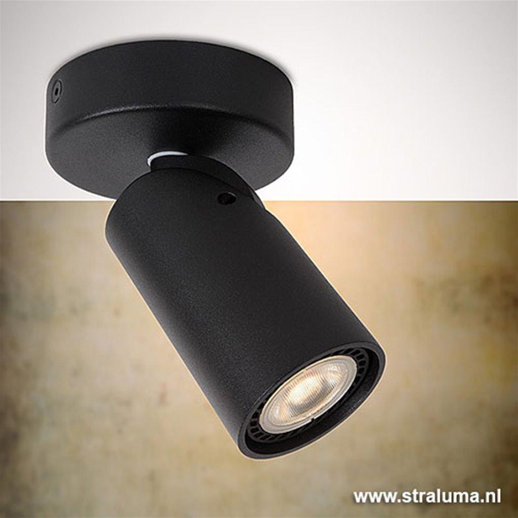 LED Spot zwart verstelbaar 1-lichts