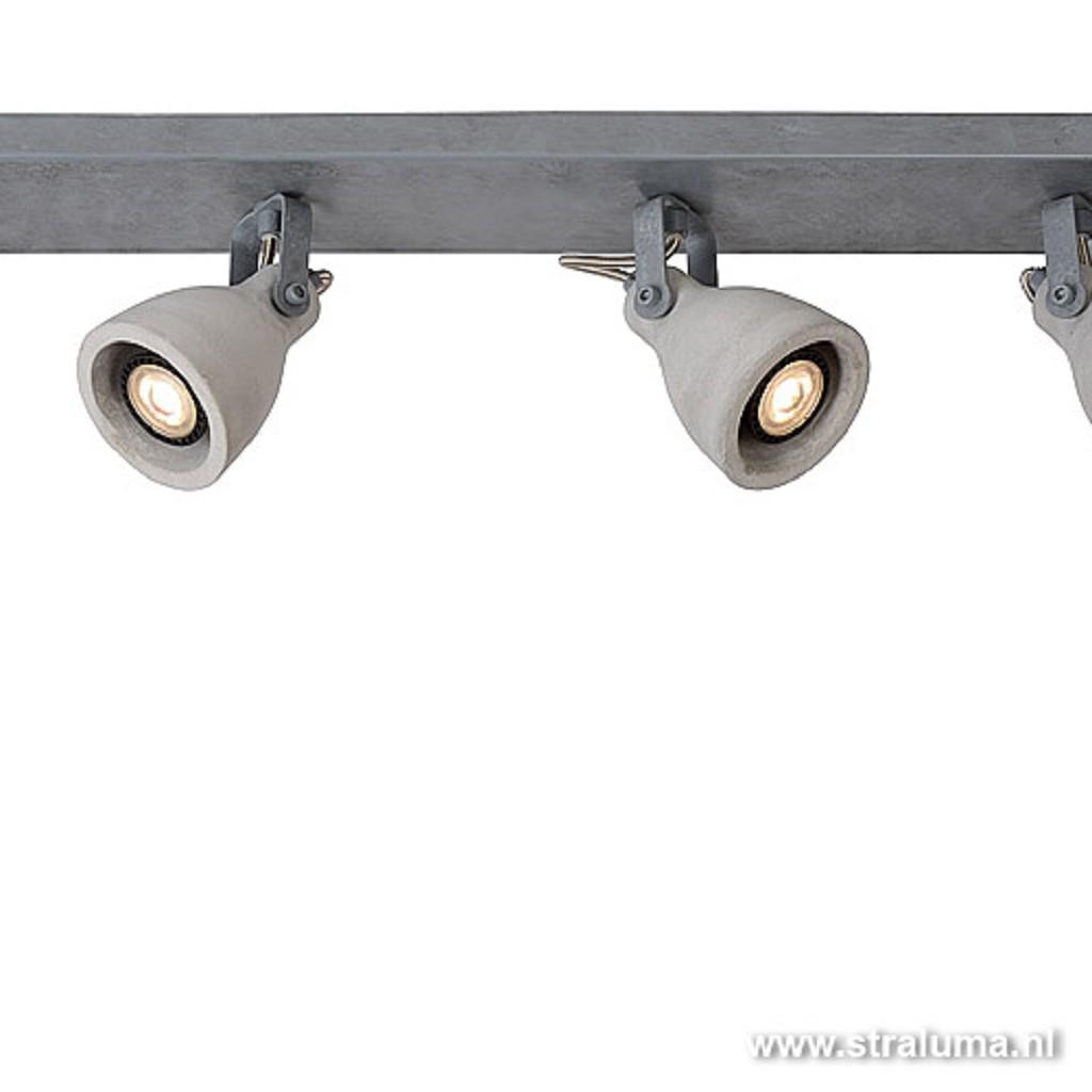 Plafondspot balk 4-lichts beton incl.