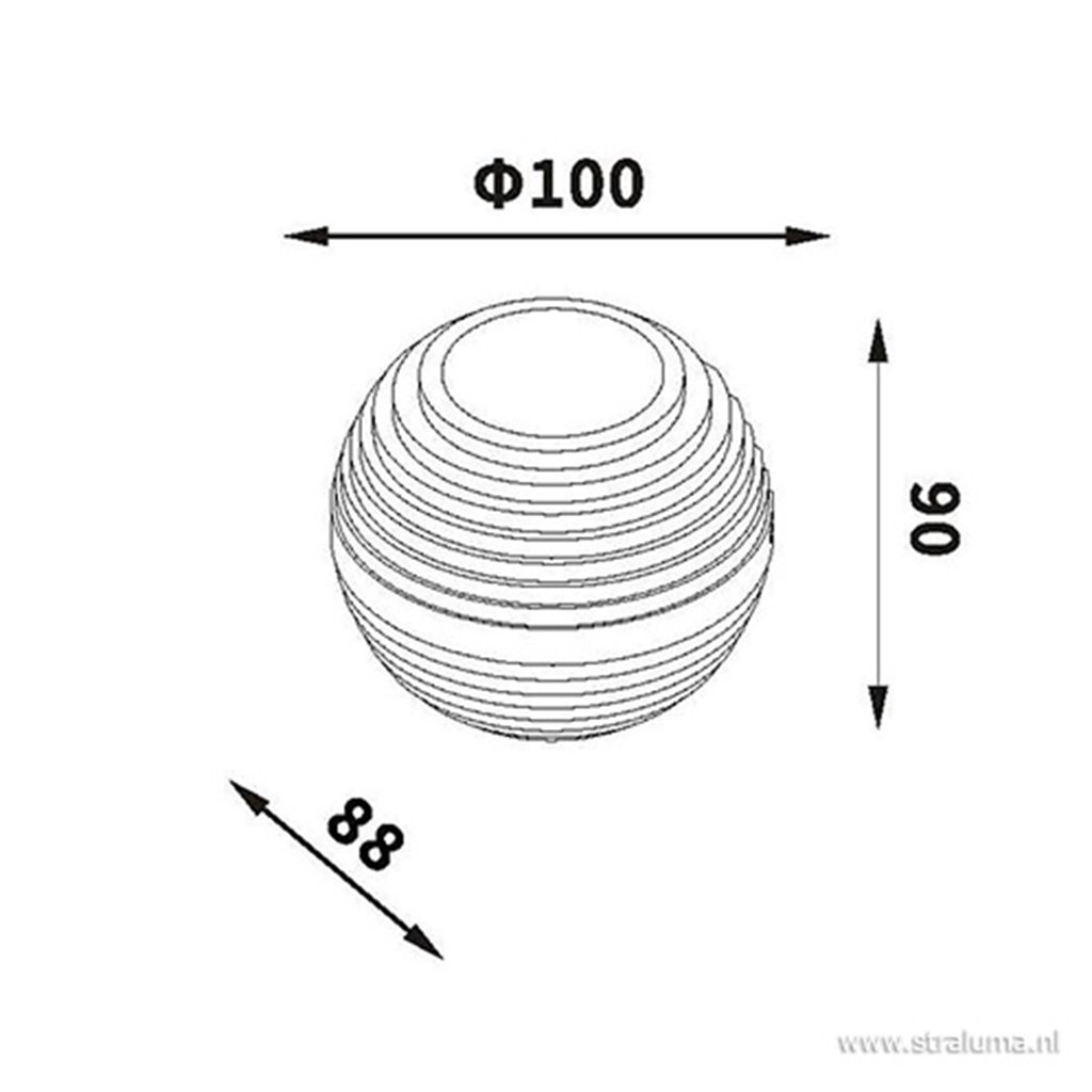 Buitenlamp-Badkamerlamp LED wandlamp wit