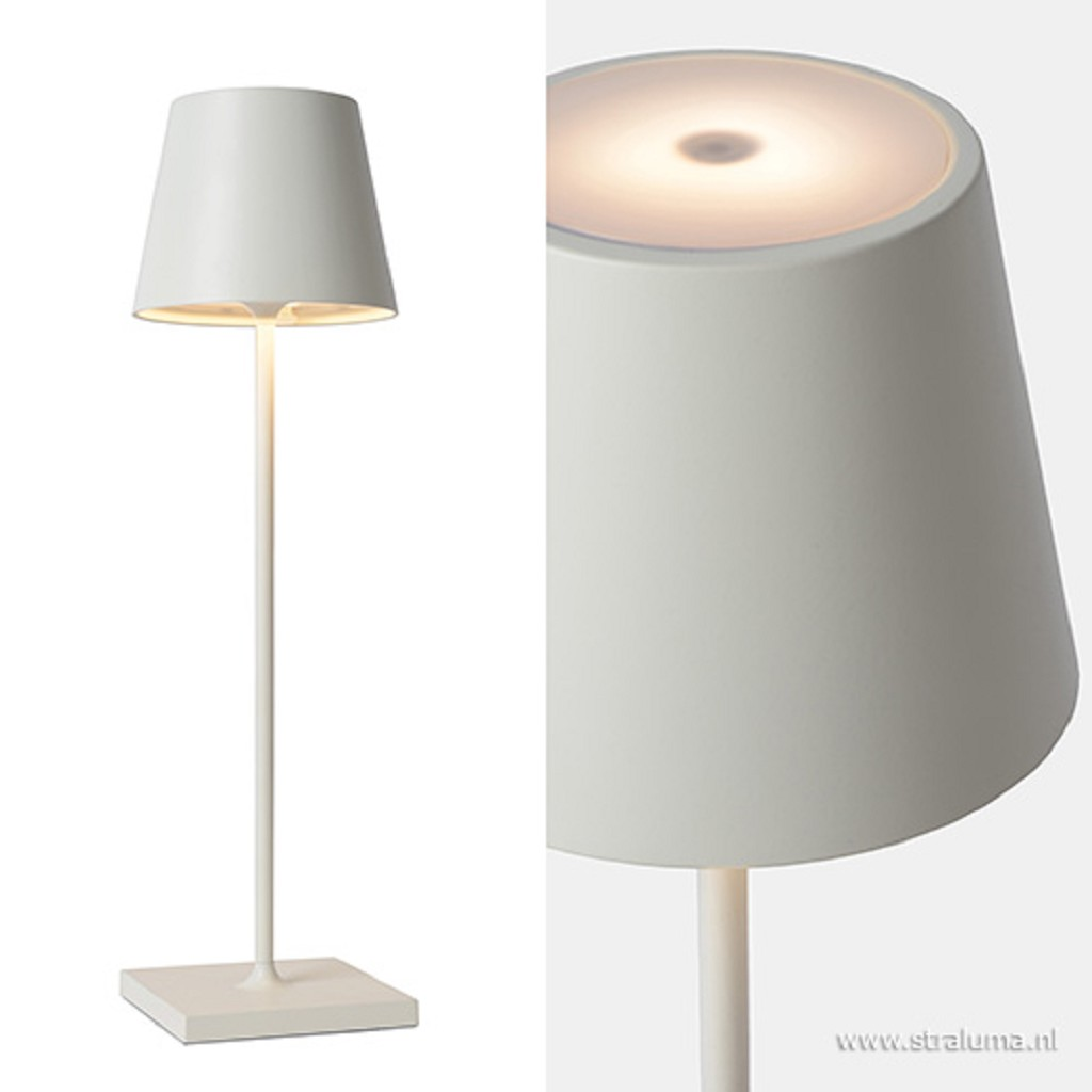 Tafellamp buiten oplaadbaar wit IP54