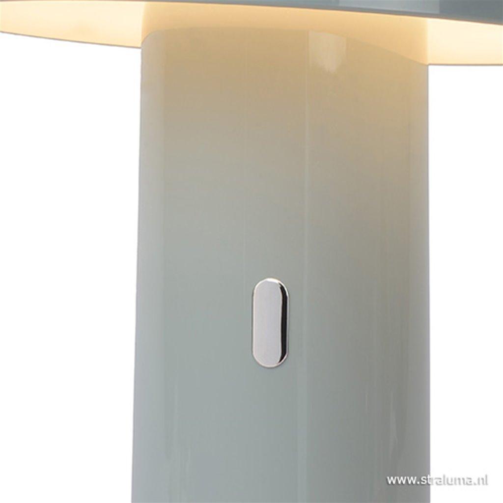 Grijze LED tafellamp op batterij