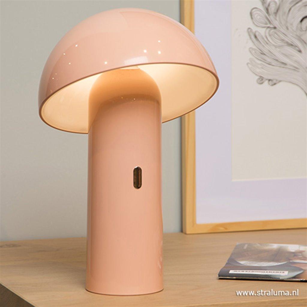 Oplaadbare kinderlamp-tafellamp roze