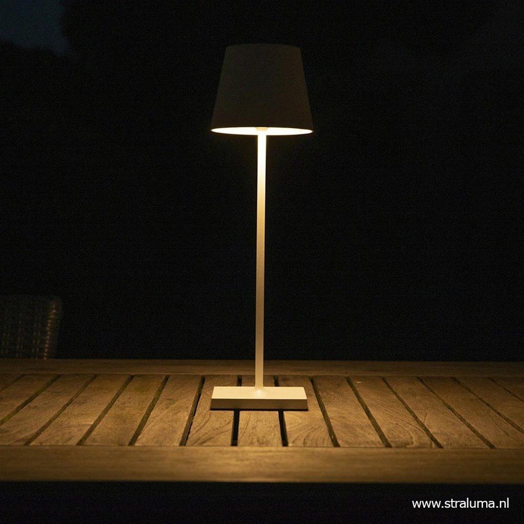 Draadloze tafellamp wit met dimbaar LED