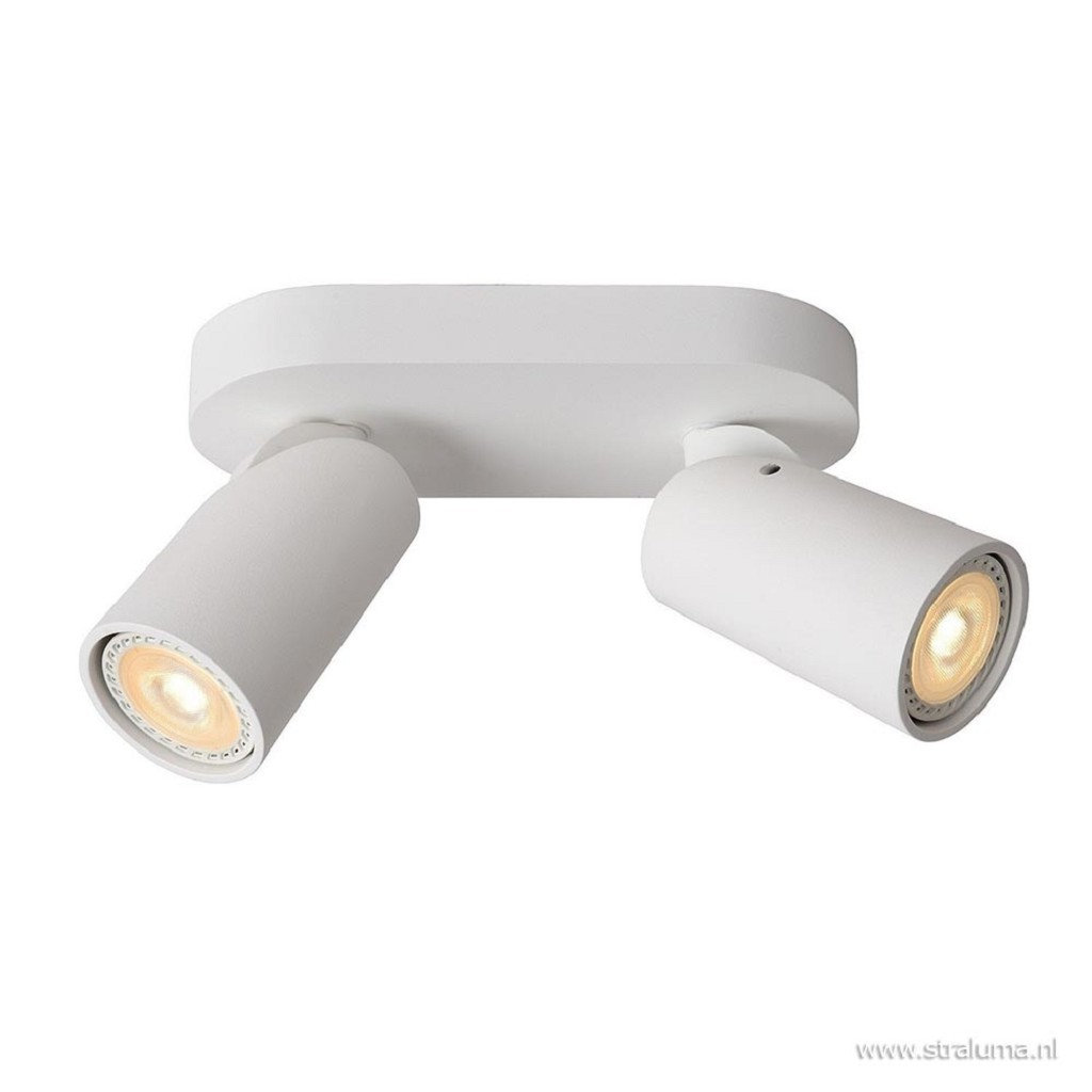 2-Lichts opbouwspot wit incl. LED dim-to-warm