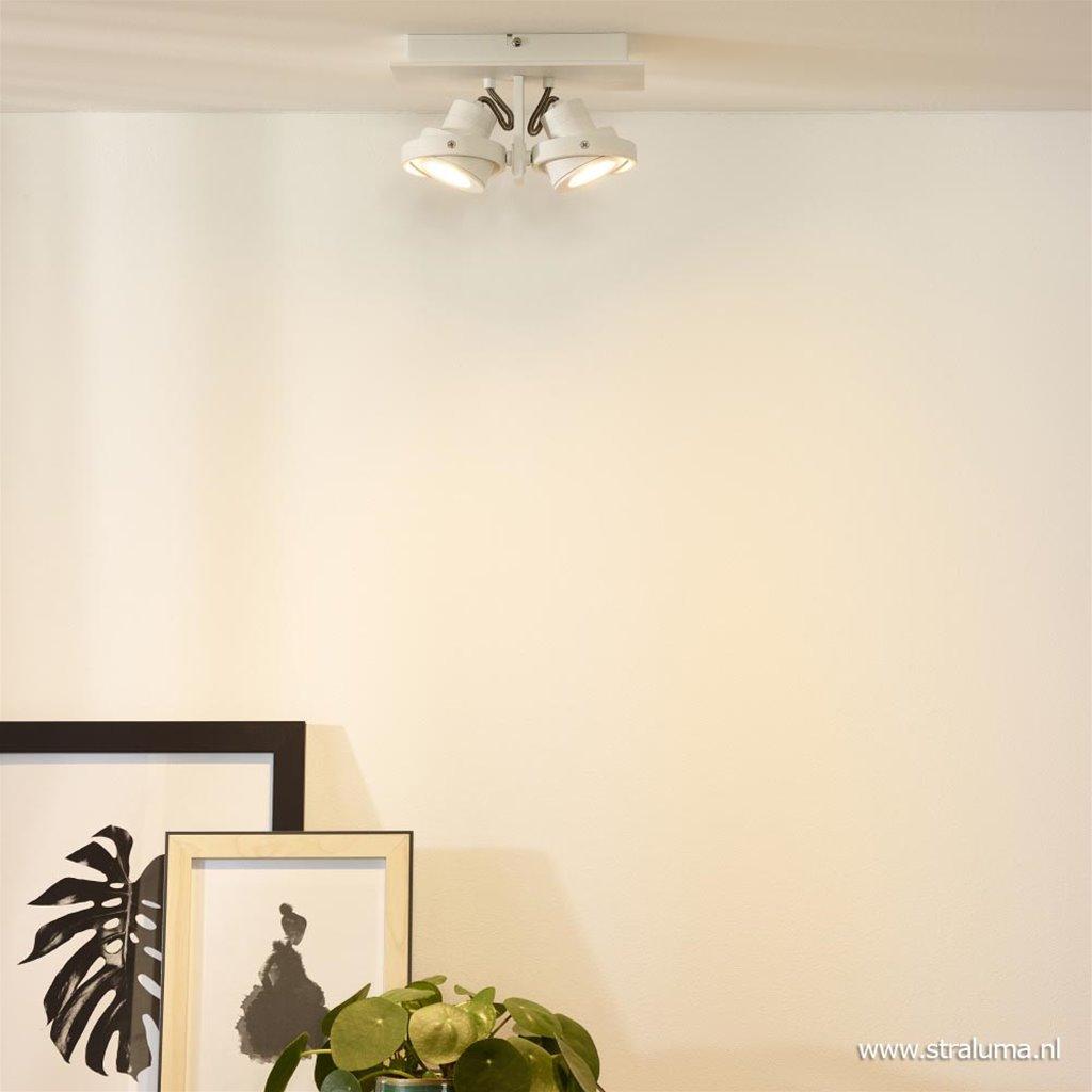 2-Lichts opbouwspot wit dim to warm LED