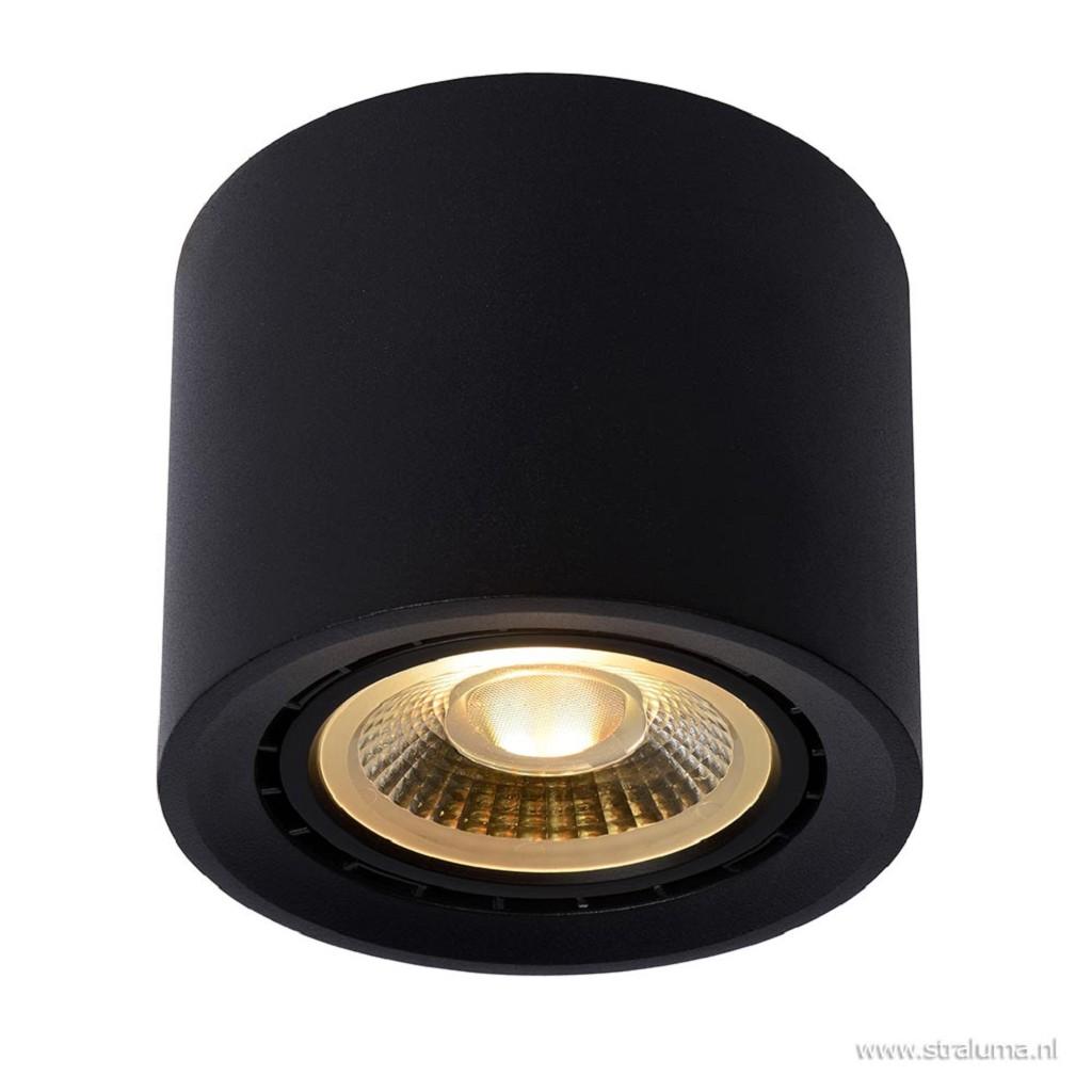 Plafondspot cilinder zwart gu10-111 dtw