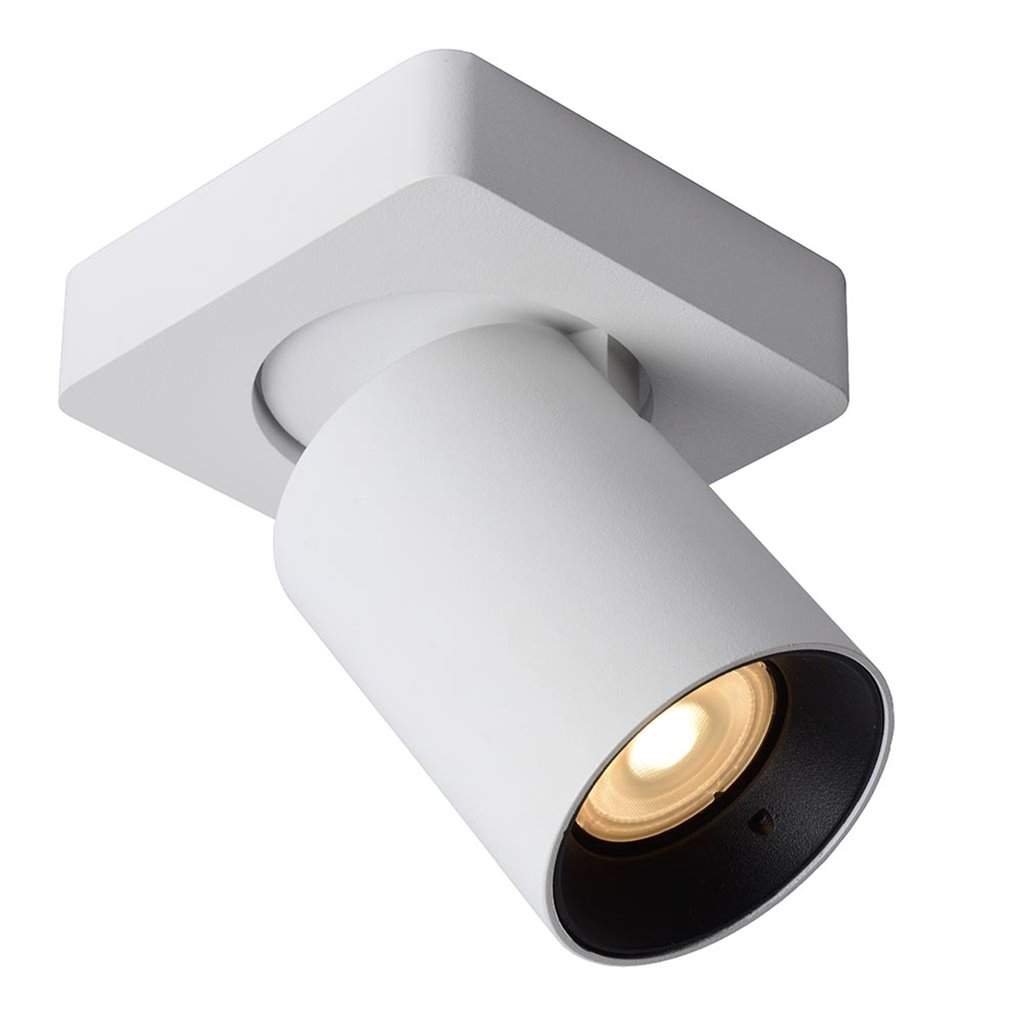 Witte opbouwspot inclusief LED dim to warm