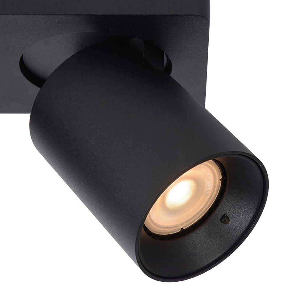 Plafondspot tube 2-L zwart incl.gu10 dtw