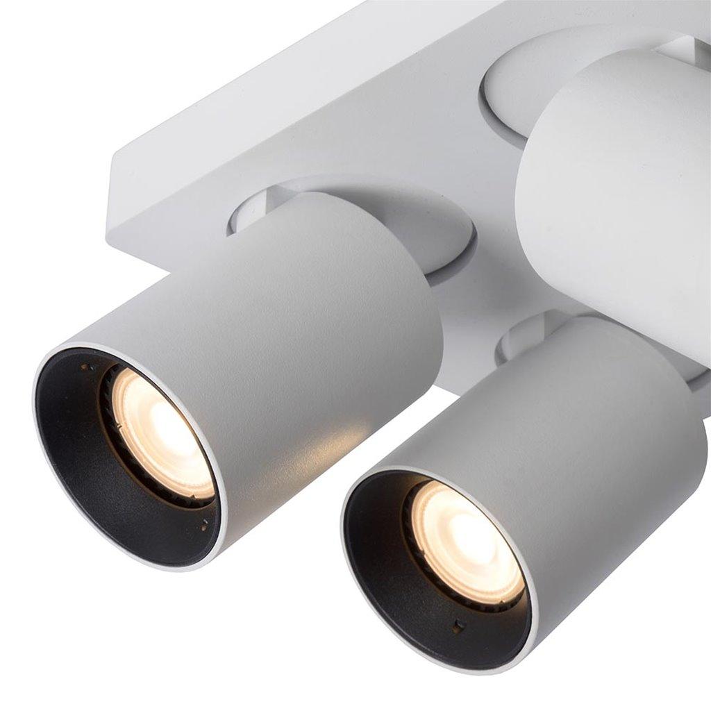 Moderne 4-lichts opbouwspot met dimbaar LED