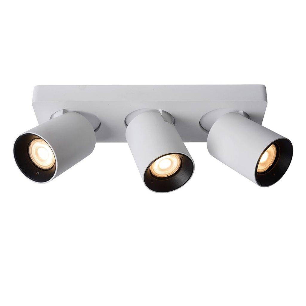 Dimbare 3-lichts LED opbouwspot wit dim to warm