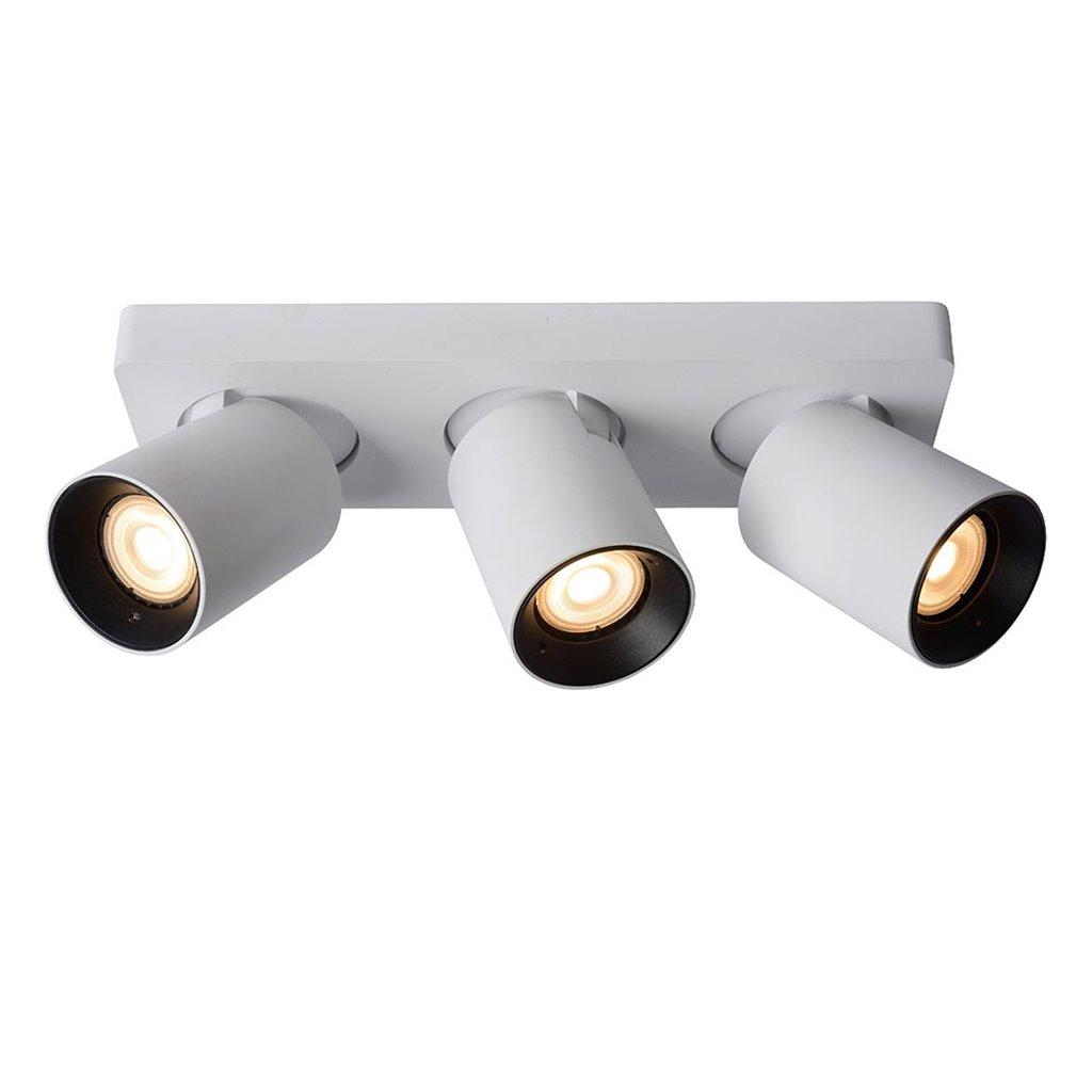 Plafondspot 3-L tube wit/zwart+gu10 dtw