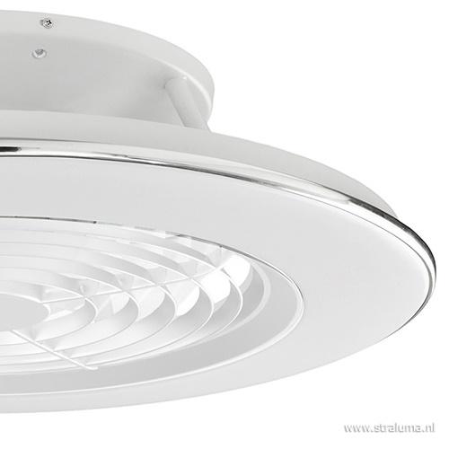 Moderne plafondventilator wit incl. LED