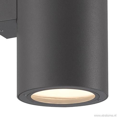 Wandlamp buiten cilinder XL grafiet IP54