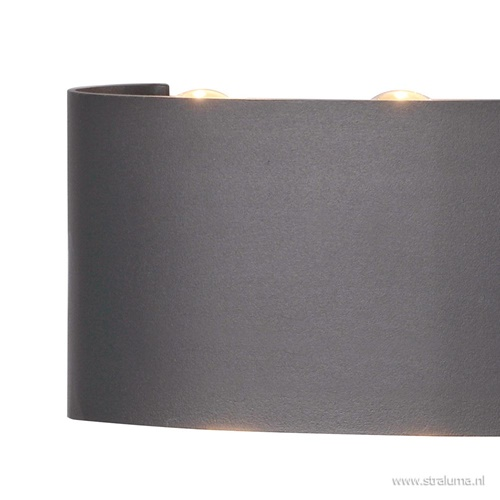 Wandlamp buiten antraciet 6xlens IP54