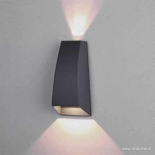 Buiten wandlamp met geïntegreerd LED antraciet grijs