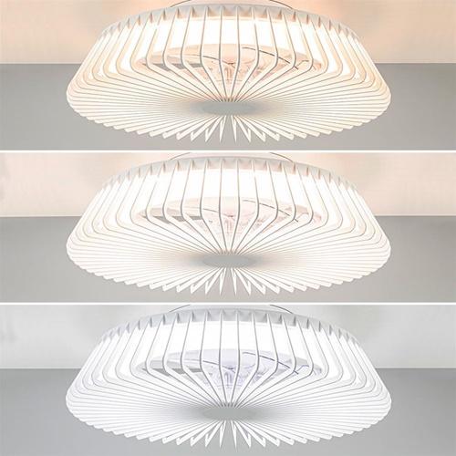 Moderne design plafondventilator met geintegreerd LED