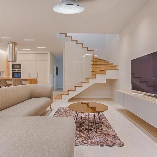 Moderne plafondventilator inclusief dimbaar LED klein