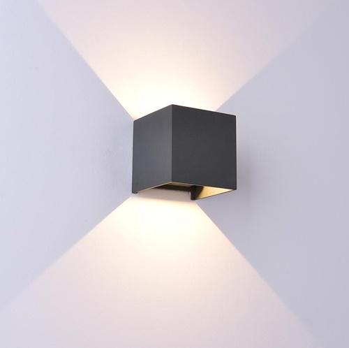 Vierkante LED buitenlamp zwart IP54