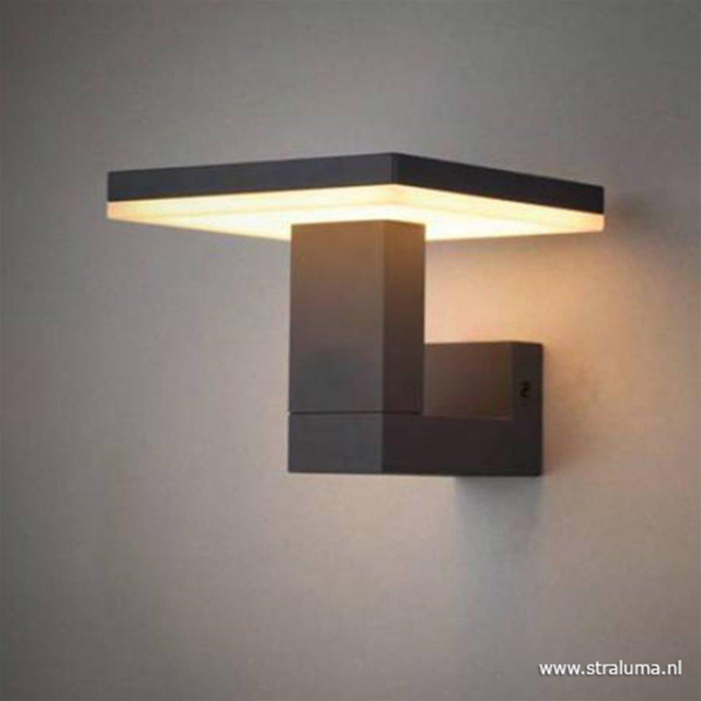 Buitenlamp-wandlamp antraciet square