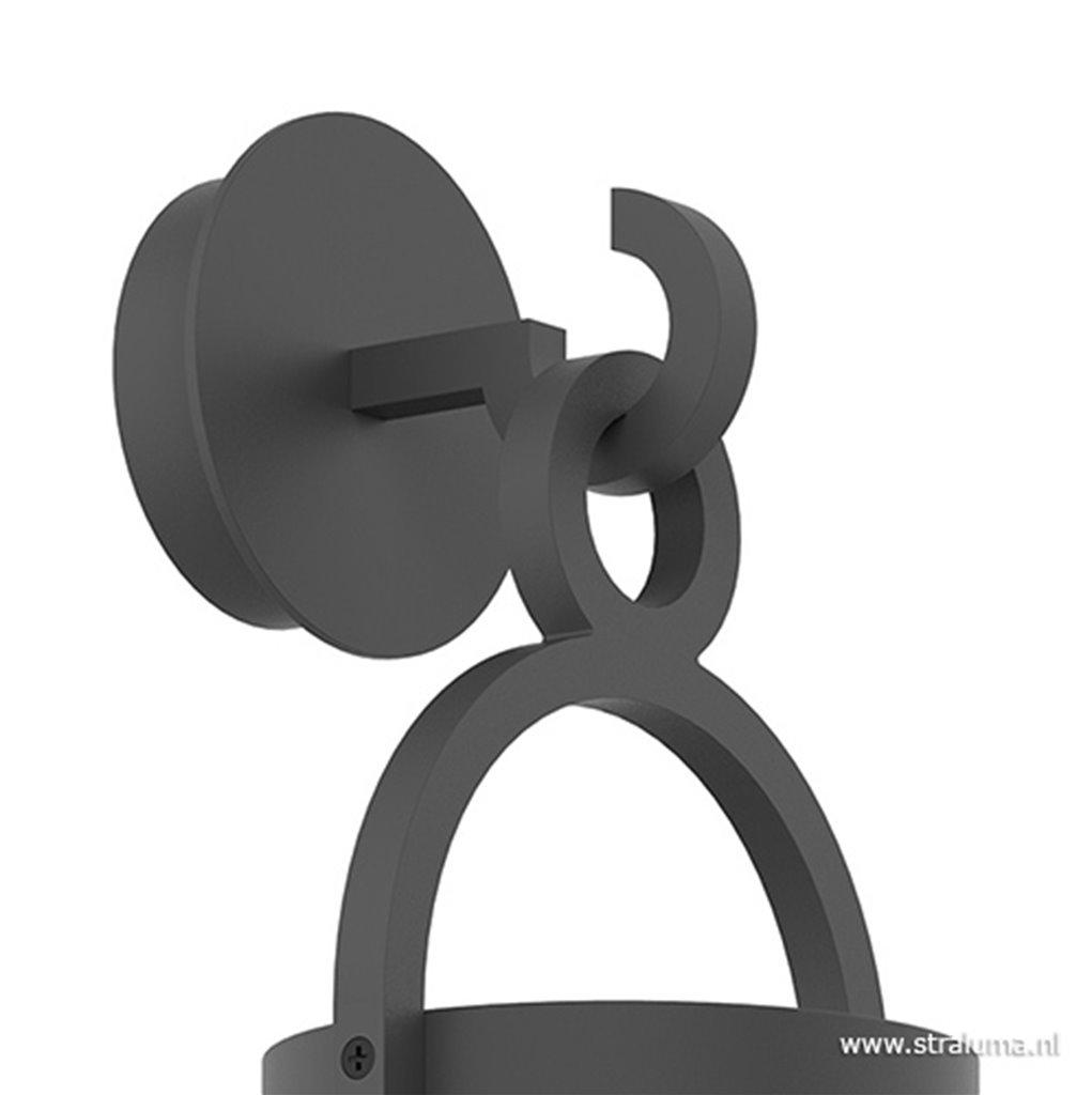 Buitenlantaarn-wandlamp antraciet IP54