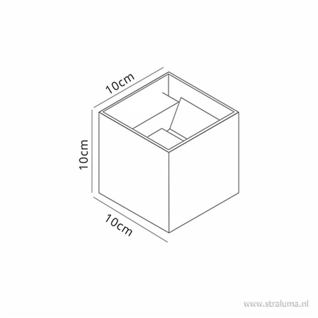Wandlamp kubus buiten antraciet IP54