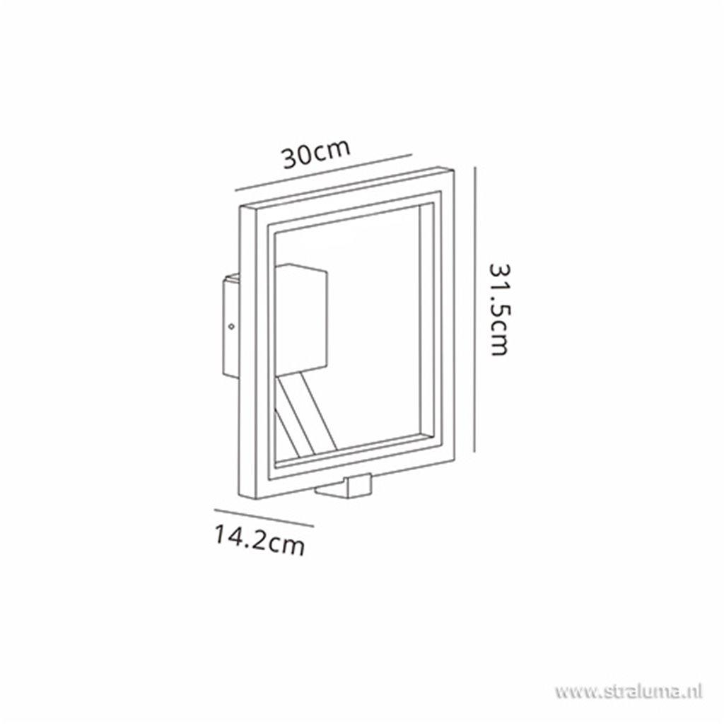 Buitenlamp-wandlamp antraciet frame IP65