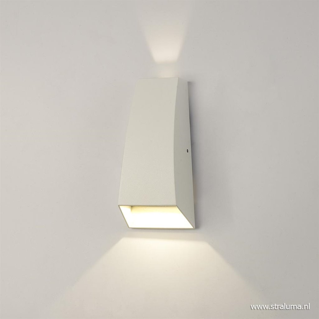 LED buitenlamp up+down wit aluminium IP54