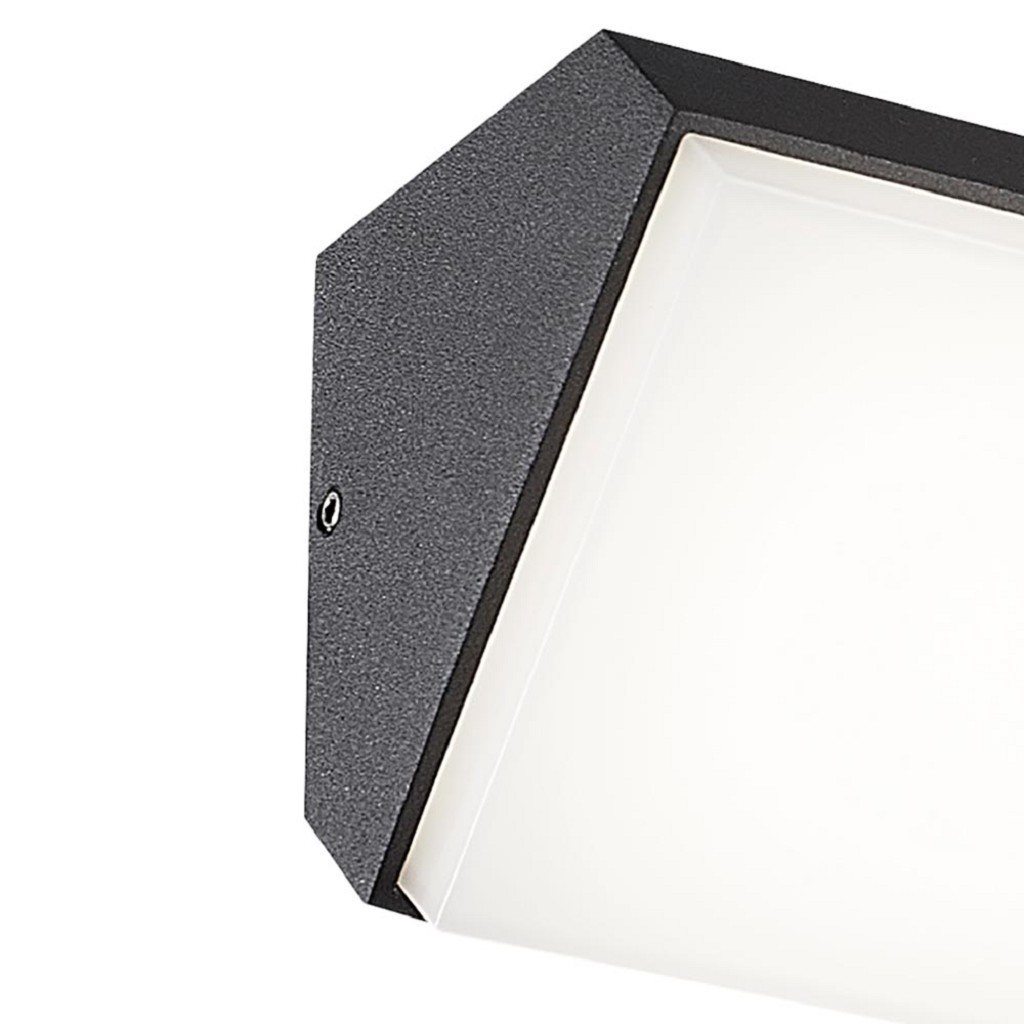 Horizontale LED buitenlamp IP65 antraciet