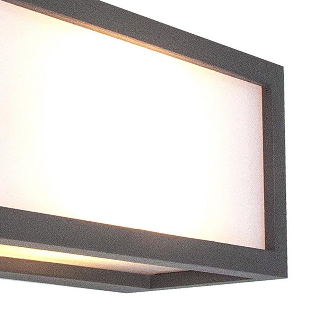 Rechthoekige wandlamp buiten antraciet