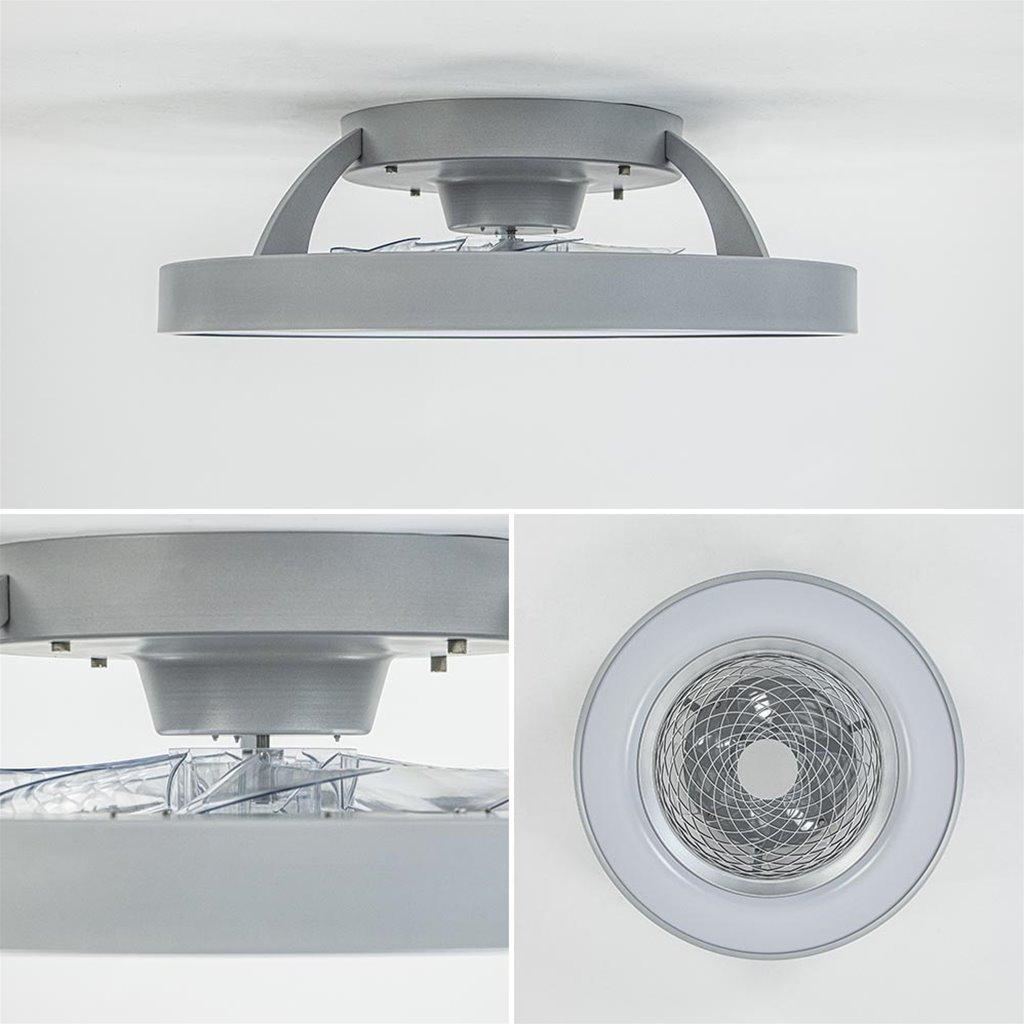 Moderne plafondventilator grijs met geintegreerd LED