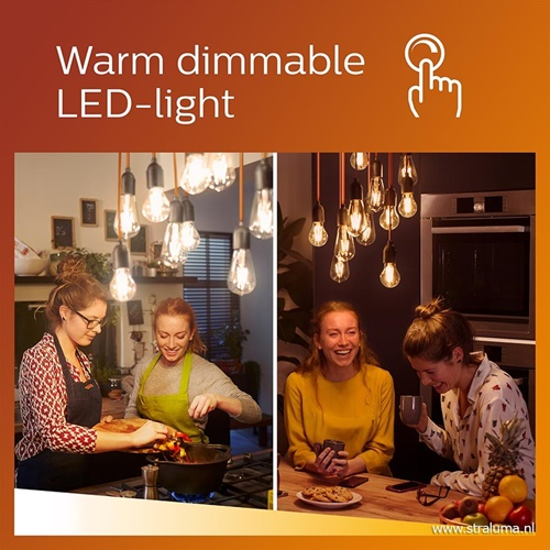 Led 5w=40w e27 mat warmglow dimbaar