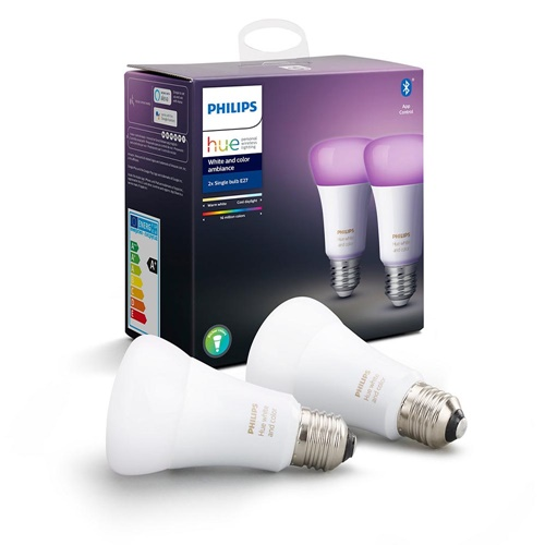 Philips Hue white and color ambiance E27 lamp Bluetooth 2-pack