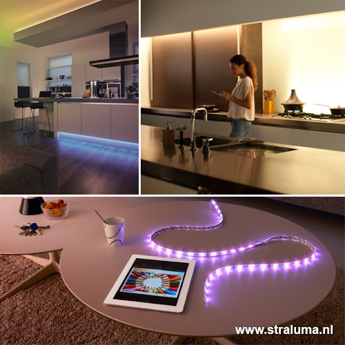 excellent philips hue lightstrip plus m start set with straluma meubels. Black Bedroom Furniture Sets. Home Design Ideas