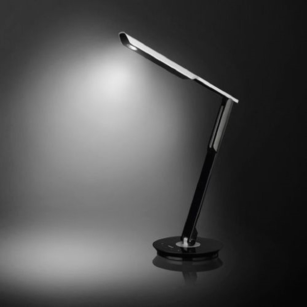 Dimbare LED bureaulamp zwart Philips