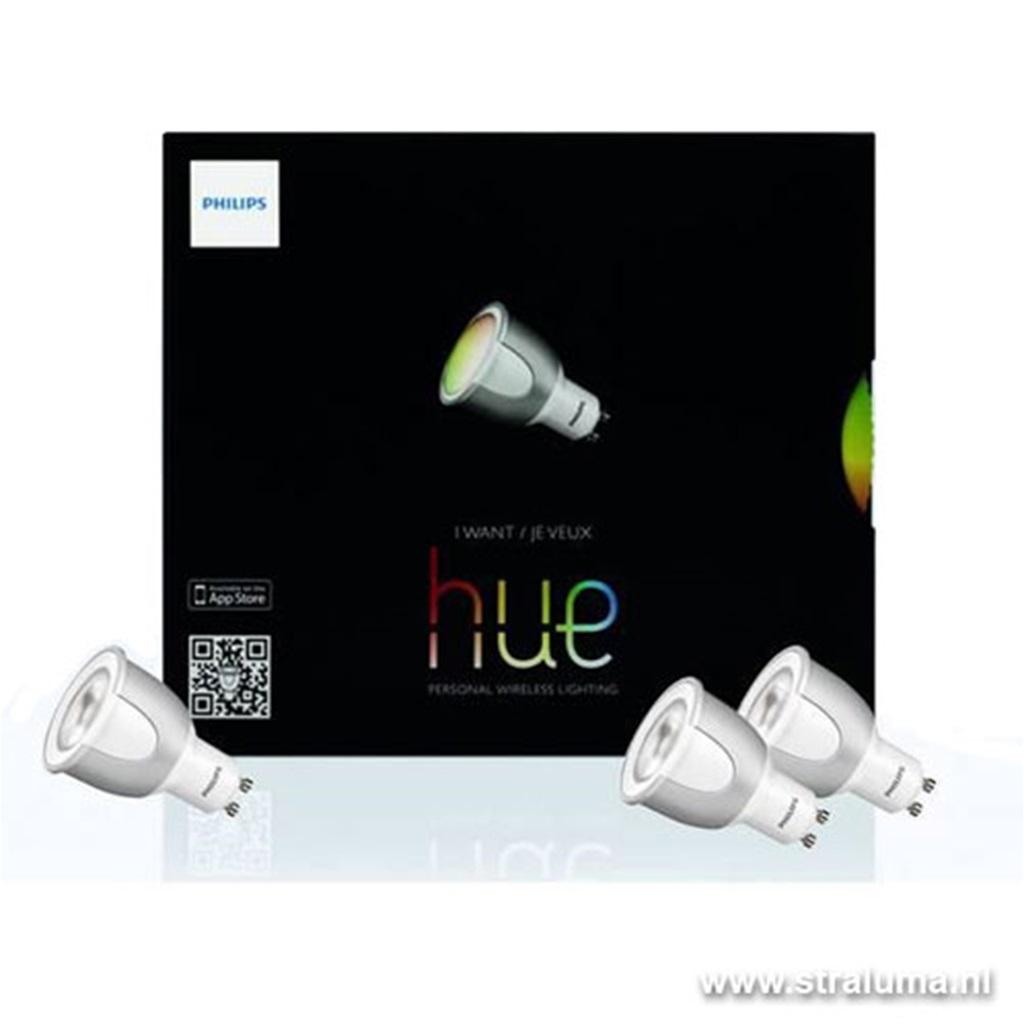 *Philips Hue 3x 6,5W GU10 starterset