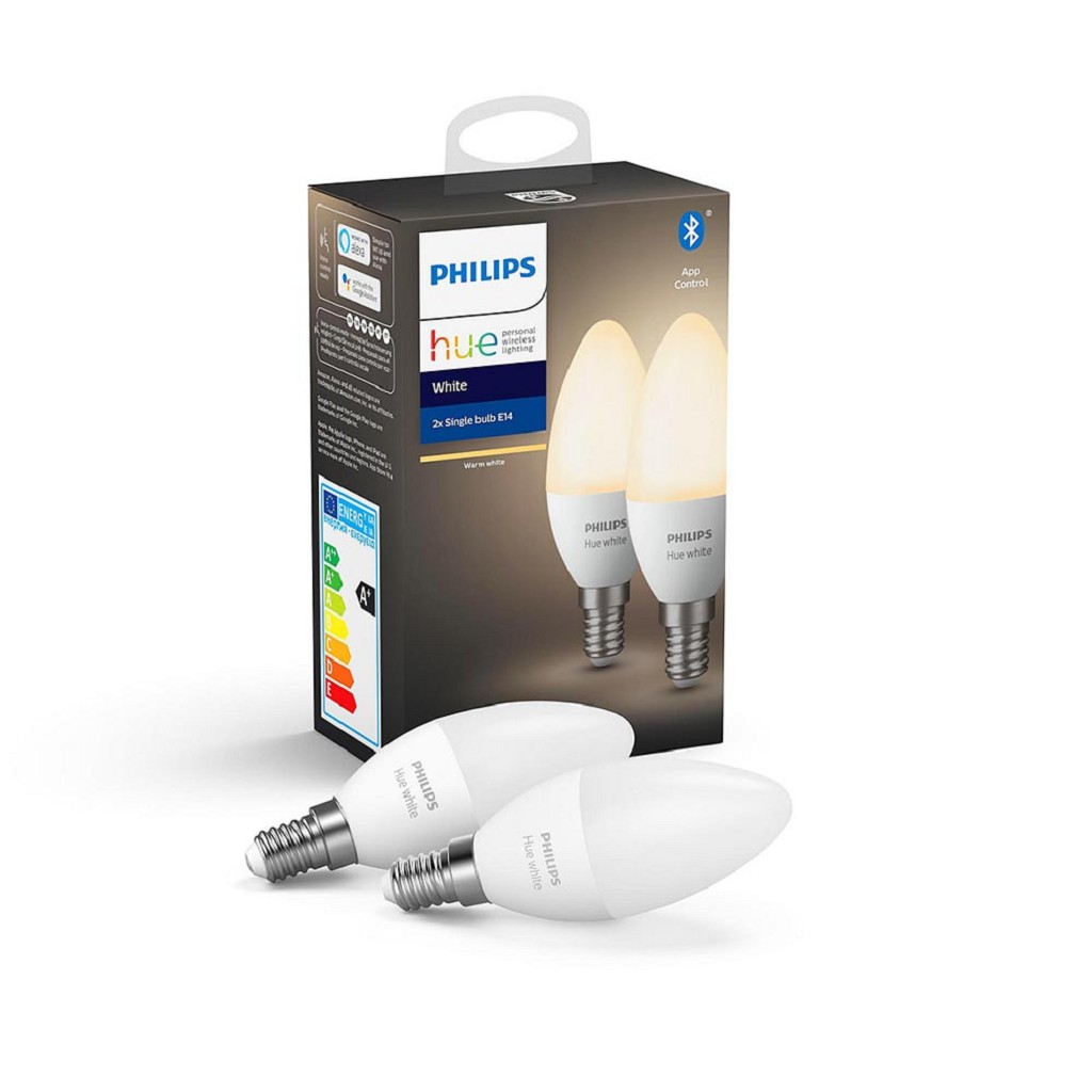 Philips Hue white Bluetooth E14 lamp warm wit 2-pack