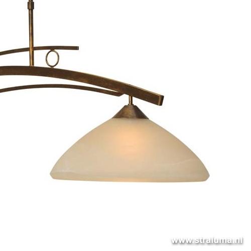 Klassieke hanglamp Bolzano brons amber